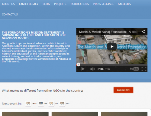 Newest website of the Ivanaj Foundations, October 31st, 2012