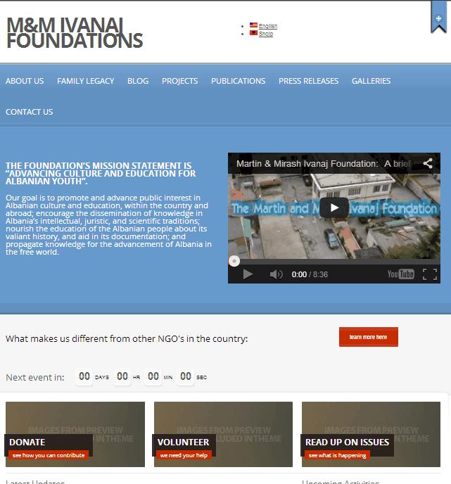 M&M Ivanaj website 2012