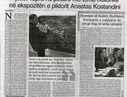 Njëzet vepra në pikturë me temë historike në ekspozitën e piktorit Anastas Kostandini (Gazeta SOT)