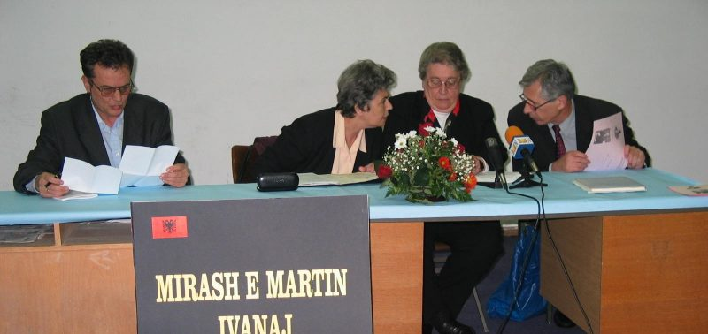 Speakers Panel from left to right, Nikoll Berisha, Pertefe Leka, Drita Ivanaj and Luke Gjokaj..