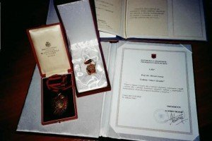 """Order of Skanderbeg"", and ""Nderi i Kombit"" ('Honor of Nation')."