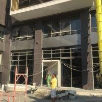 Building entrance closeup