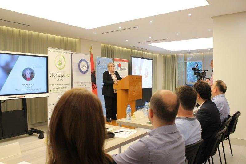 Drita Ivanaj presenting