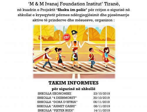 """My Friend the Police"" Project – Supported by Municipality of Tirana"