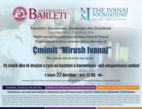 """The """"Mirash Ivanaj"""" prize"""